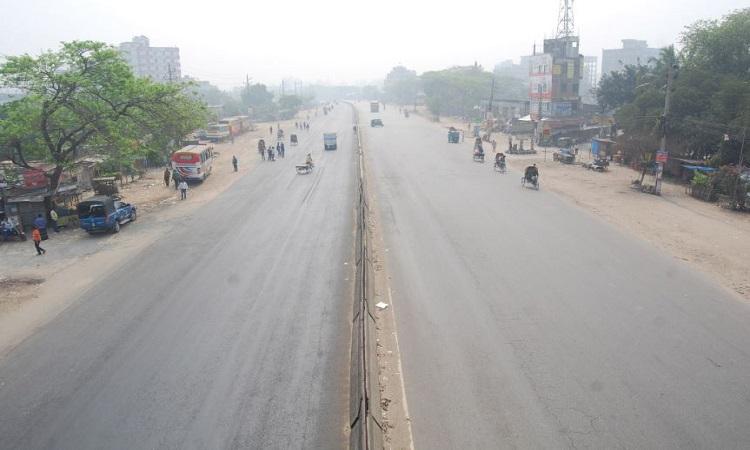 ঢাকা-চট্টগ্রাম মহাসড়ক ফাঁকা